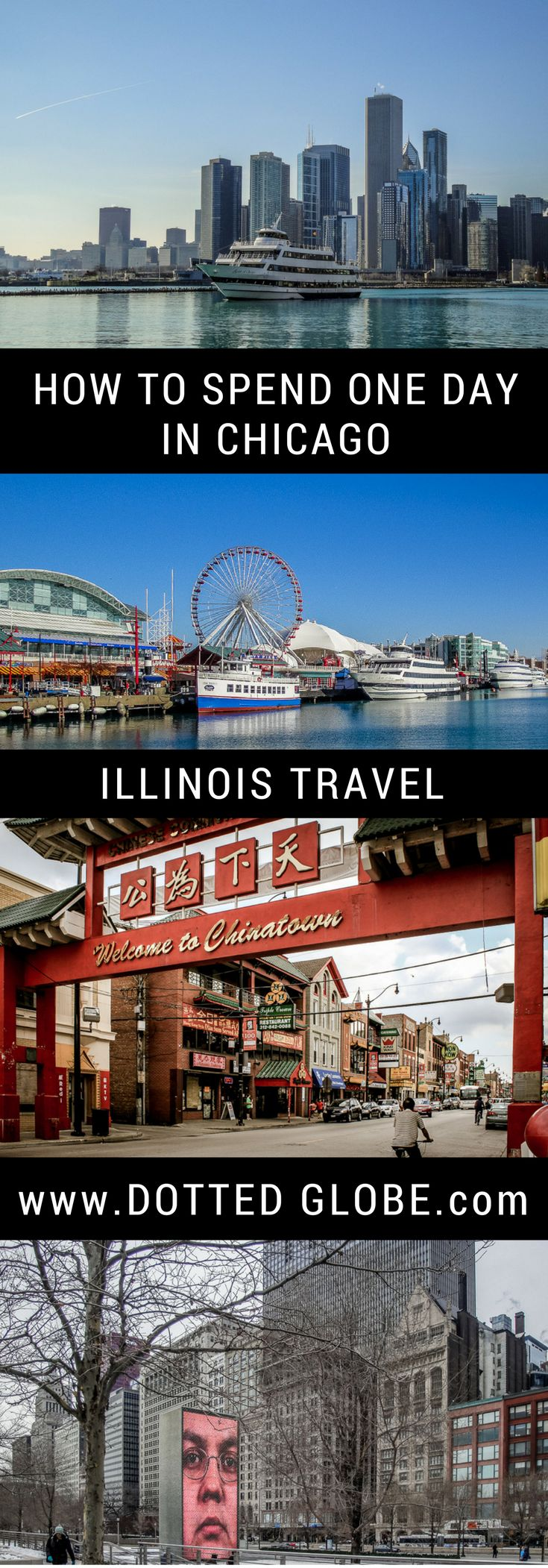 Guide to spending a perfect day in Chicago, perfect for those short on time in the windy city. See Willis Tower skydeck, Art Institute of Chicago,Buckingham Fountain, the Bean and more in one day.