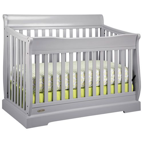 Traditional and elegant, this Graco Maple Ridge 4-in-1 convertible crib with a sleigh-style design looks great in any nursery. As your little bundle of joy grows and begins to sit or stand up you can lower the mattress level, or t... Free shipping on orders over $35.