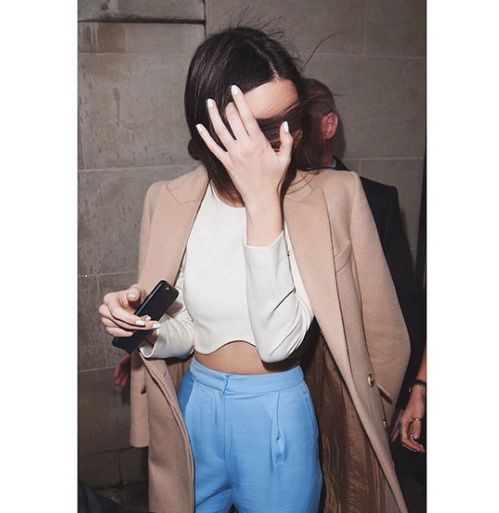 Le vernis à ongles blanc de Kendall Jenner