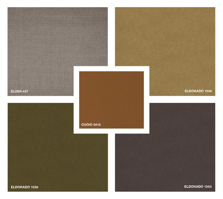 Hide Leather: Cuoio 5015 Fabric: Elisir 437 Velvet: Eldorado 1550 - 1559 - 1553