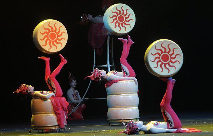 Imagem 16: Cena de 'Sky mirage II', do Circo Imperial da China. Foto: Marcos Alves