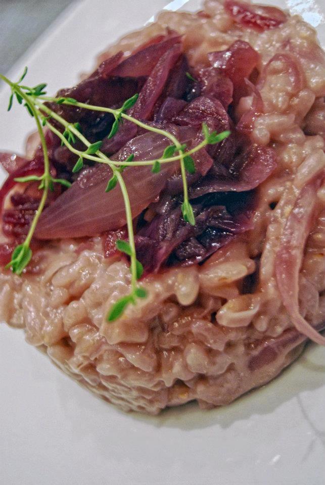 Risotto al Chianti con cipolle rosse mantecato al taleggio – Laura Giusti