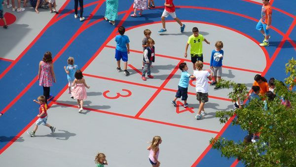 PS 234 Independence School Play Yard, by KaN Landscape, in TriBeCa, New York City, USA.