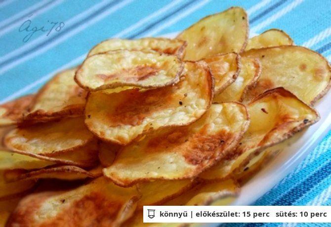 Chips a sütőből