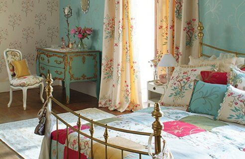 country: Beds, Bedrooms Design, Colors, Interiors Design, Vintage Bedrooms, French Country Style, Country Bedrooms, Bedrooms Ideas, Shabby Chic Bedrooms