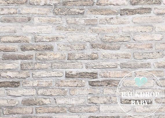 Rusty White Brick Backdrop, Photography Backdrop & Floordrop, Vinyl Backdrop, PolyPro Backdrop, Canvas Backdrop, Glare Free