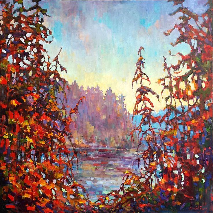 Hidden Lake II par Micheal Foers, artiste présentement exposé aux Galeries Beauchamp. www.galeriebeauchamp.com