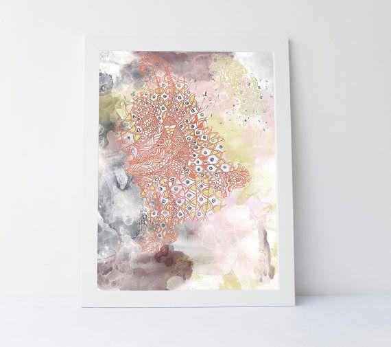 Indie print indie home decor boho abstract by PrintableGiftIdeas