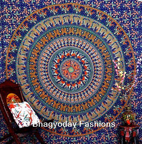 Pyshedlic Indian Mandala Wandbehang Gobelin, Hippie Gobelin Mandala Wandbehang Elefant, Tapisserien, Bohemian-Wohnheim, Tapisserien, Pyshedlic Mandala-Motiv, indischer Baumwolle BedDecor Tagesdecke Überwurf, Decke, Queen 86 x 94 Vom Bhagyoday BhagyodayFashions http://www.amazon.de/dp/B00WWNZSTQ/ref=cm_sw_r_pi_dp_gQ7kwb1YHH30F