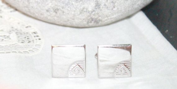 Vintage1950s Swank Mens Cufflinks Silver by AntiqueAlchemyShop, $20.00