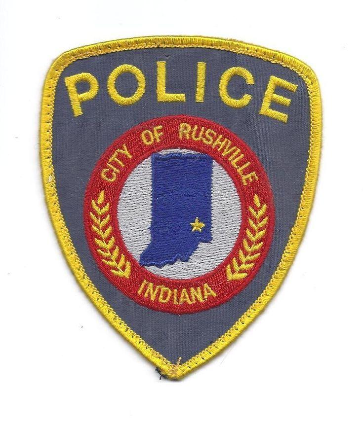 VINTAGE RUSHVILLE INDIANA POLICE PATCH