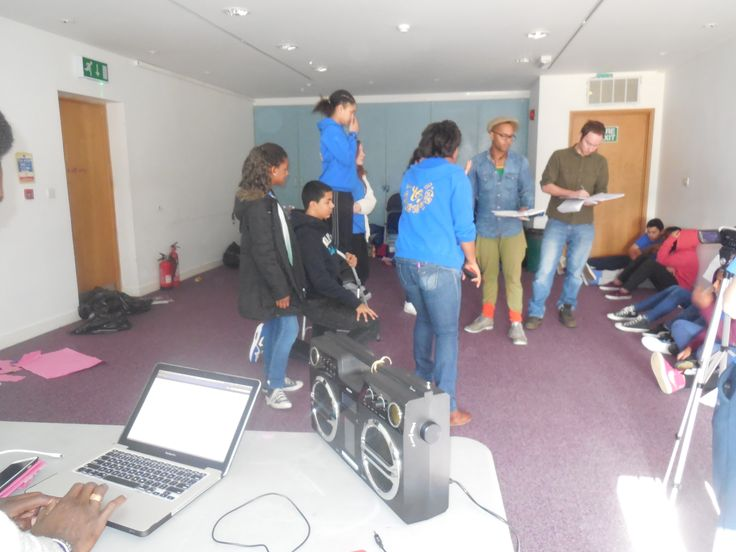 Rehearsing the music video before starting filming it. Well done to the Y&T Teens, they did an amazing work on the lyrics!