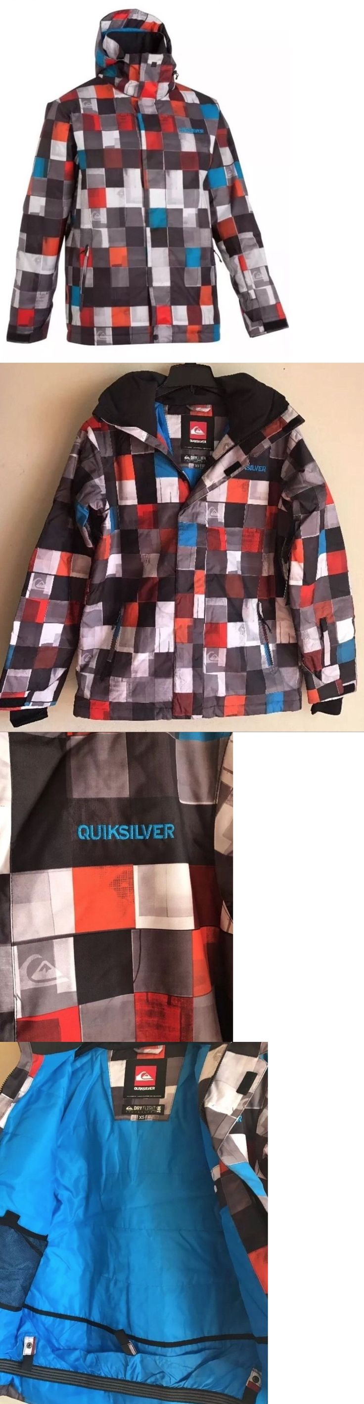 Coats and Jackets 26346: New Mens Quiksilver 10K Snow Jacket Ski Checkered Black Red Size Xs S M L Xl -> BUY IT NOW ONLY: $38.99 on eBay!