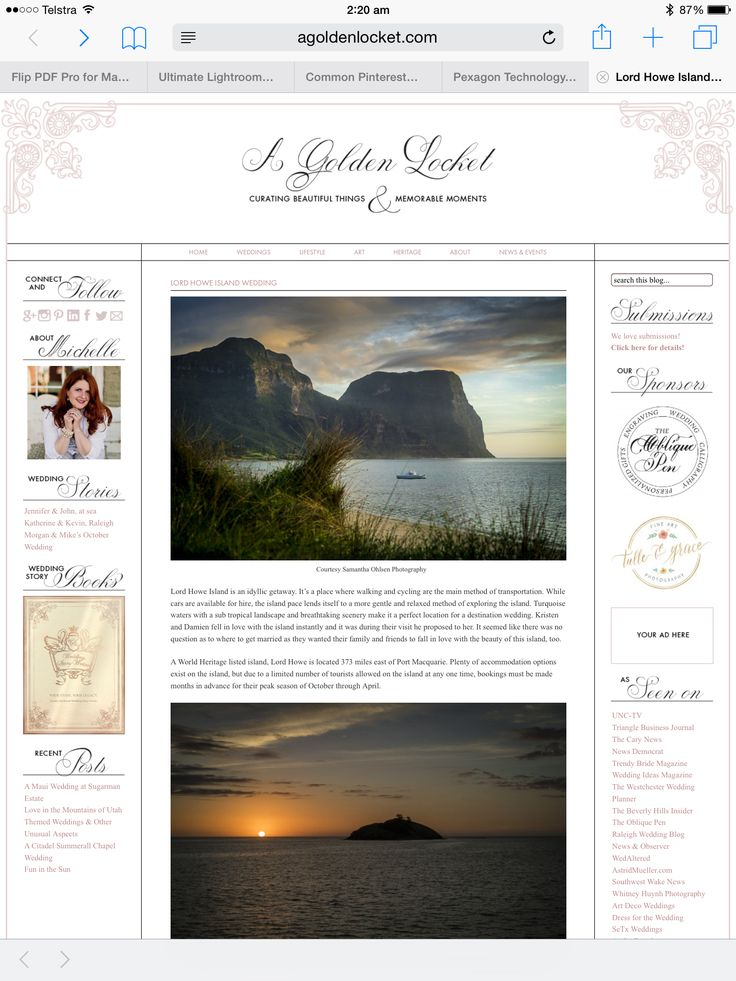 Stunning Destination Wedding at the World Heritage Listed Lord Howe Island with photography by Samantha Ohlsen Photography.