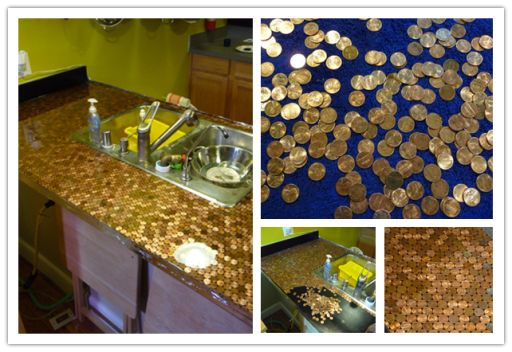 How to make DIY penny countertop | DIY Tag