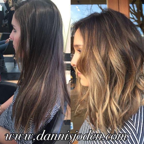 balayage with caramel shoulder length brown hair - Google Search