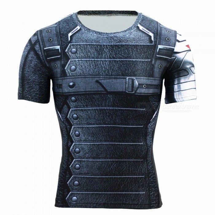 buitensporten soldaat kleding stijl voor mannen polyester met korte mouwen t-shirt