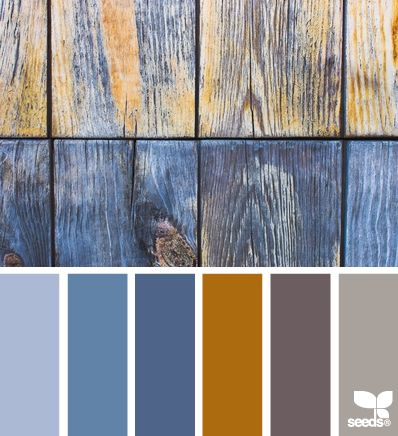 Rustic blues, I think these would coordinate with the yellow tile, grey floor, bamboo, not as sure about the granite?
