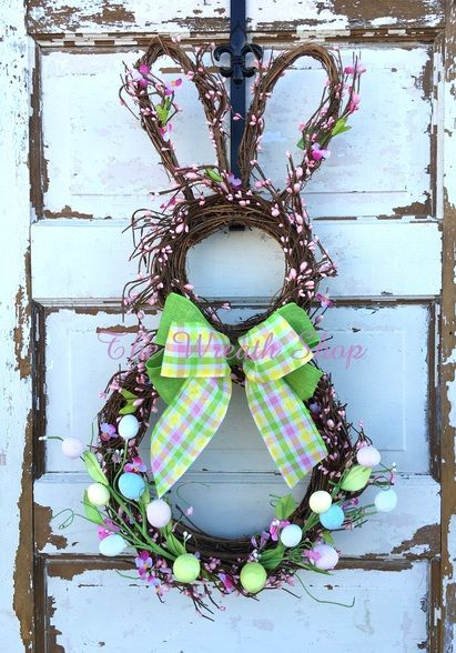 Grapevine Easter Bunny Wreath at The Wreath Shop