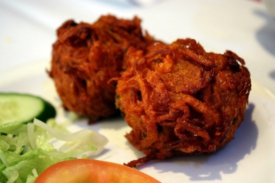 Our Onion Bahjis - seasoned with fresh herbs