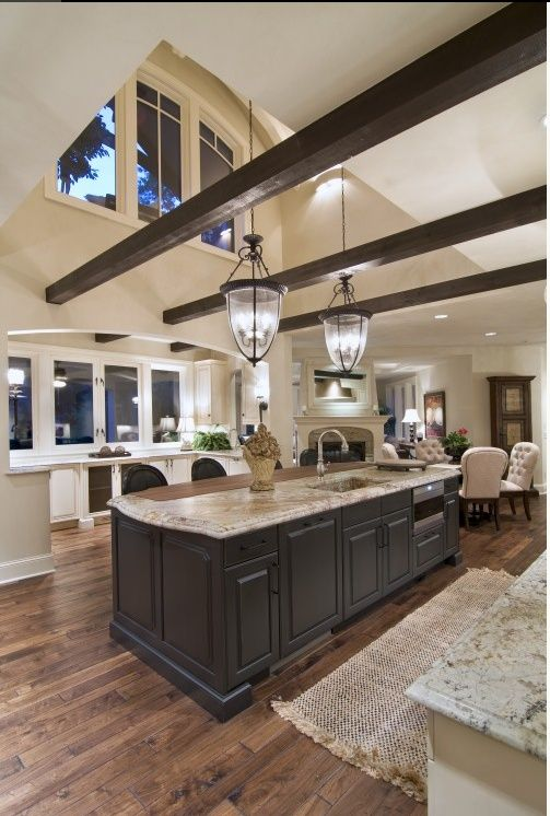This is a large open #kitchen with #contemporary feel. www.remodelworks.com