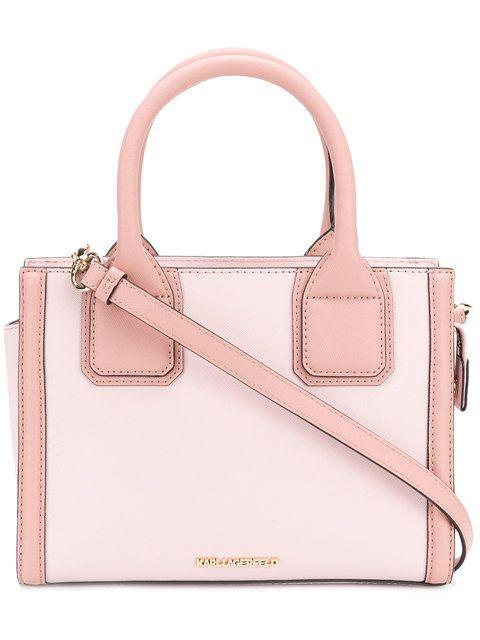 5658441fe50e Shop Karl Lagerfeld Karl Klassik mini tote in Pale Rose