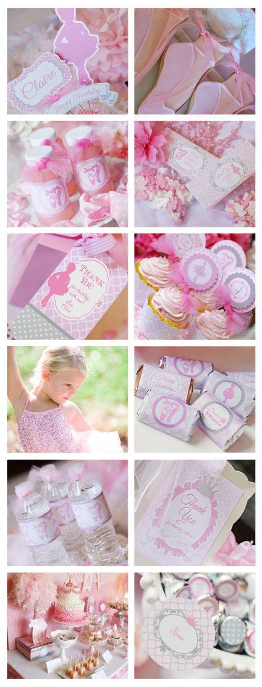 Pink Ballerina Tutu Party Planning, Ideas & Supplies >> Printable Ballerina Birthday Party Decorations