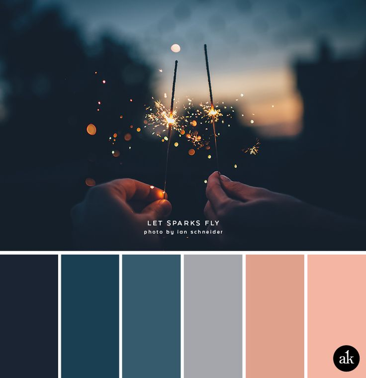 A Sparkler Inspired Color Palette BlueLiving Room