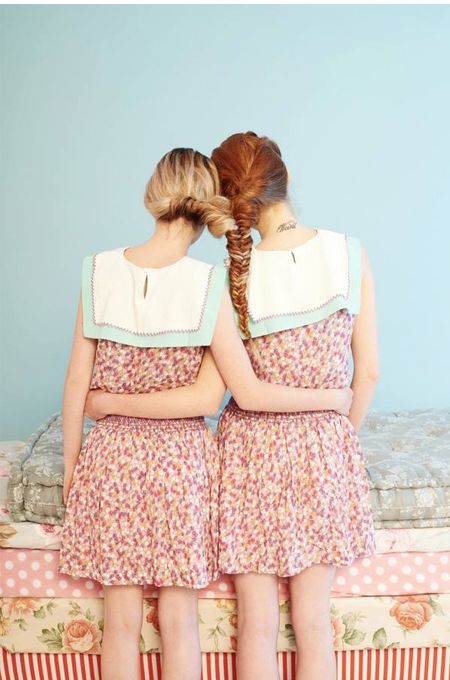 I wanna do this to my girls' hair and do a family portrait! :: Twin-niwT