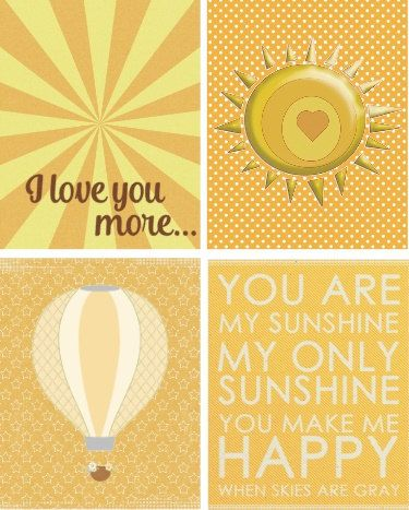 I Love You More - You are My Sunshine Wall Art Prints