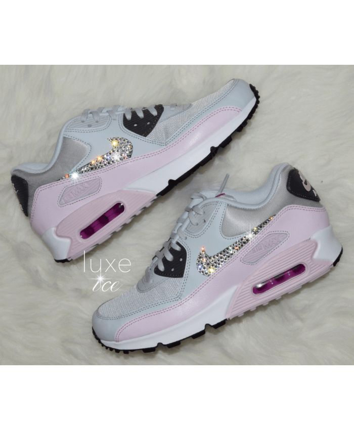 Nike Air Max 90 Crystal Candy Pink Light Grey Trainer