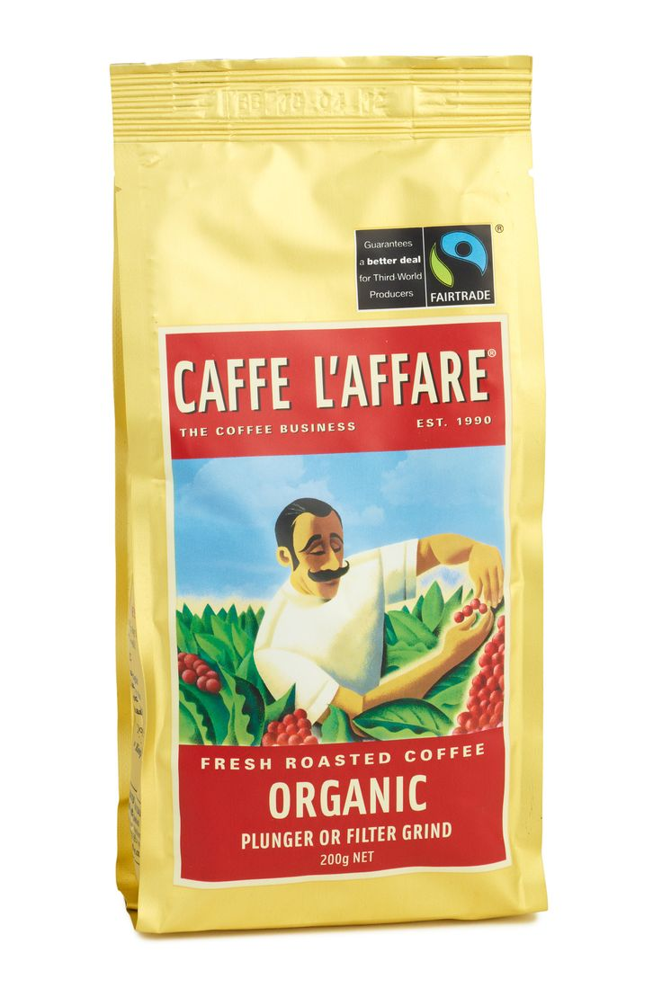 COFFEE - Caffe L'affare Look for the Fairtrade Certified coffee Available in all major foodstores nationwide More info: www.laffare.co.nz