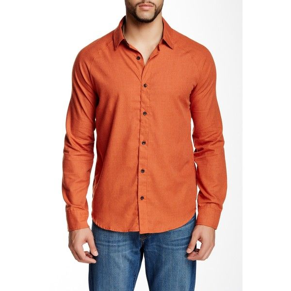 OurCaste Hayes Long Sleeve Shirt (€22) found on Polyvore featuring ...
