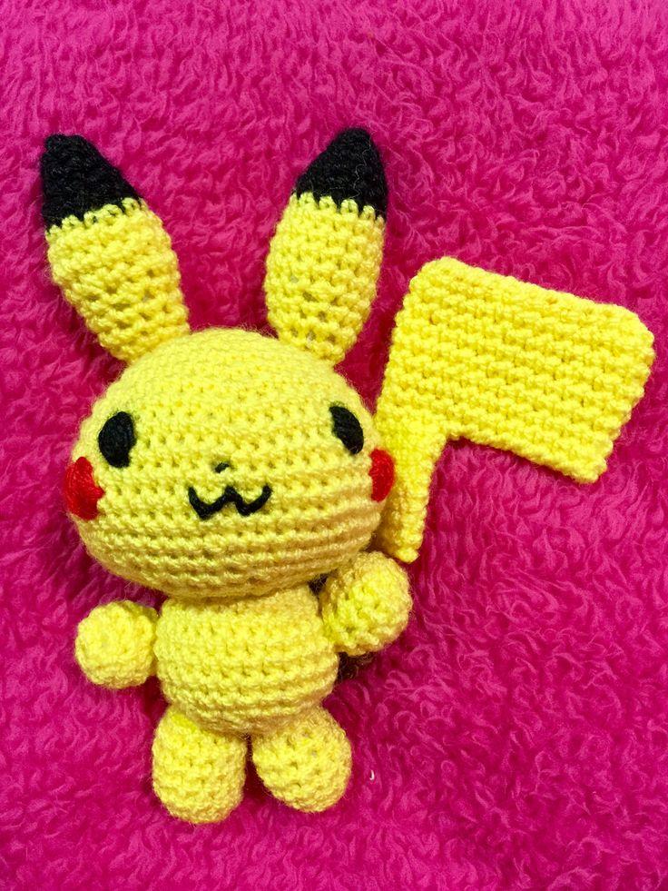 Pikachu pokemon amigurumi para Montse
