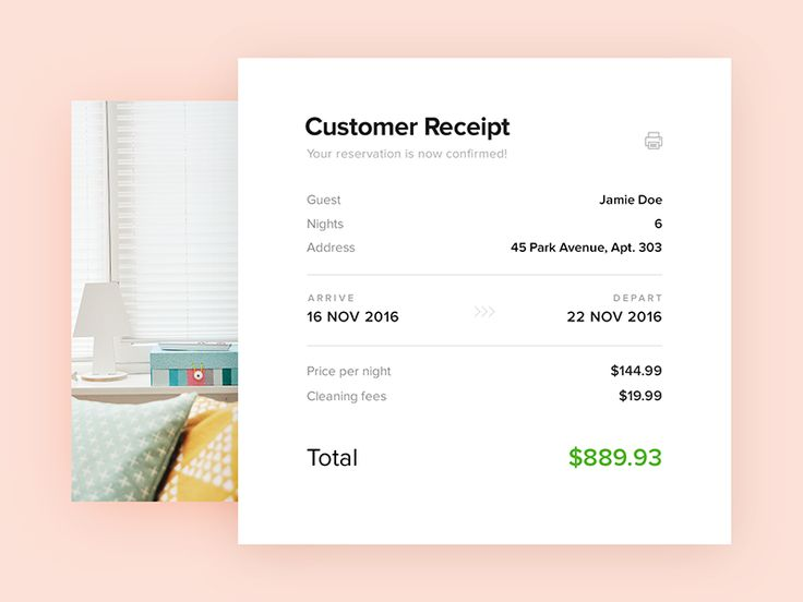 Email Receipt - Daily UI - #017