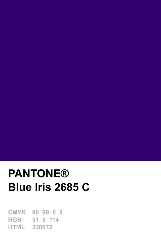 Pantone Colour Of The Year 2008 Blue Iris