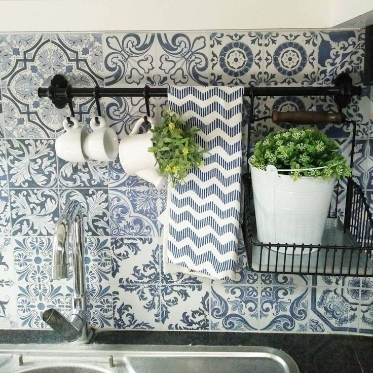 This FINTORP rail is decorative and functional when used in the kitchen.