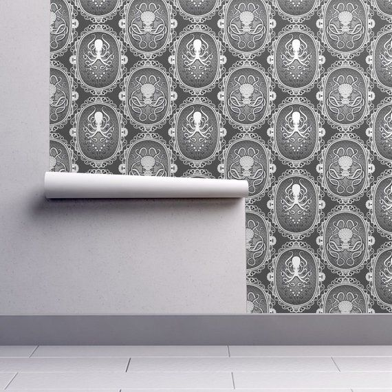 Steampunk Wallpaper Steampunk Octopus Cameo By Jadegordon Steampunk Custom Printed Removable Self Adhesive Wallpaper Roll By Spoonflower Self Adhesive Wallpaper Steampunk Wallpaper Wallpaper Roll