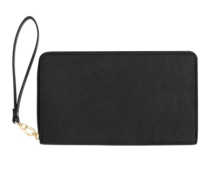 Stylish and sleek, this Leather Travel Wallet will help keep you organised so you can enjoy the little things. With spaces for your boarding pass, tickets, cards, coins and important documents, it's great for taking on your flight as well as using throughout your trip. The detachable wrist strap makes it even easier to use on-the-move.