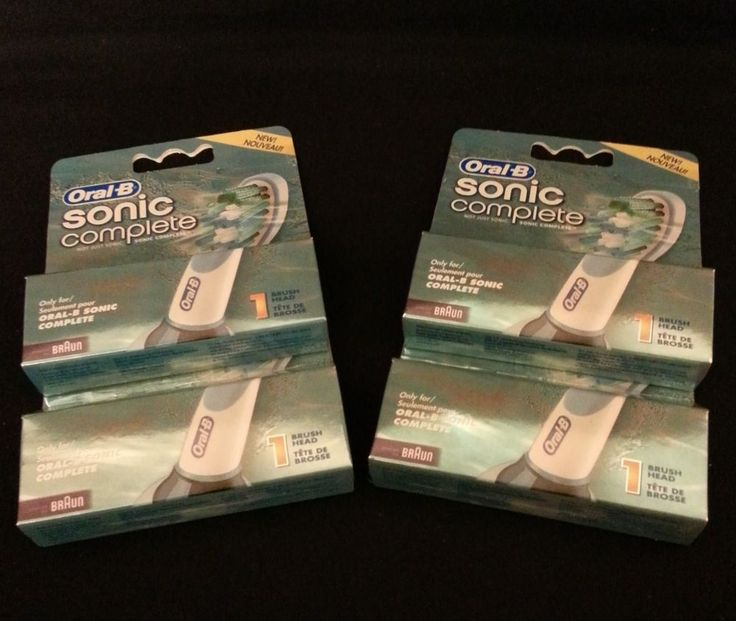 4 NEW ORAL B SONIC COMPLETE REPLACEMENT BRUSH HEAD PACKS #OralB