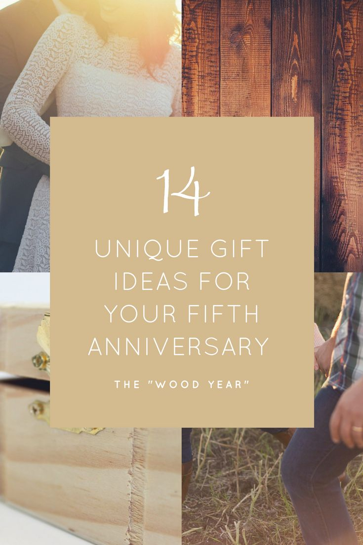 For the wood year find something truly unique for your fifth anniversary.