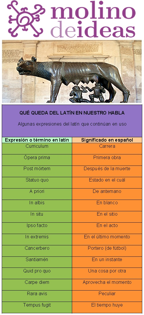 Algunas expresiones en latín que siguen usándose en la actualidad.