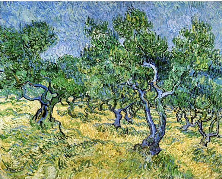 Olive Grove - Van Gogh. I saw this at the High Museum in Atlanta and they had the sound of wind on the headphones, it made it feel like you were standing in the grove