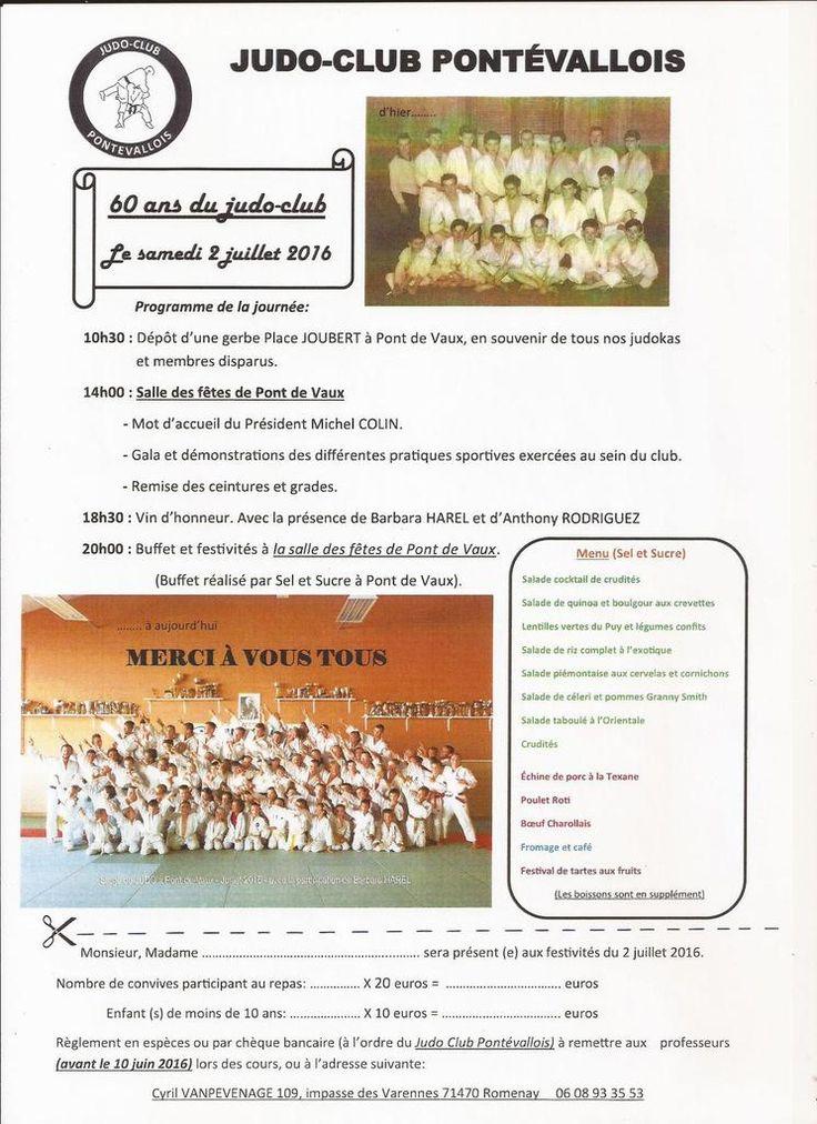 Le Judo club pontévallois fête ses 60 ans le 2 juillet.