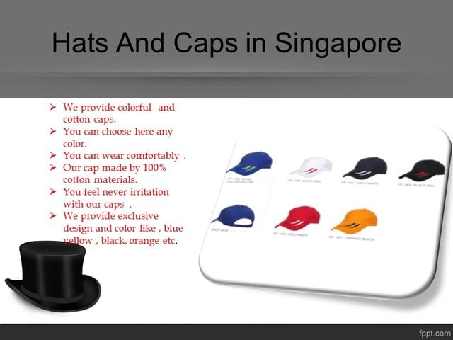 Giftworks-creation provides you unisex colorful hat & Caps in Singapore. Our cap staff very soft and comfortable.We offer here wholesale price.Visit here for more details.@https://goo.gl/1zSlhX