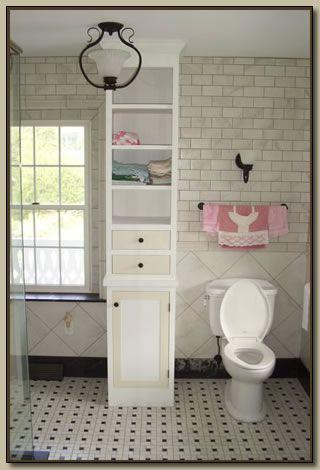 Built In Bathroom Cabinets Storage
