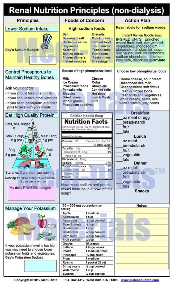 Renal Nutrition Principles (non-dialysis)