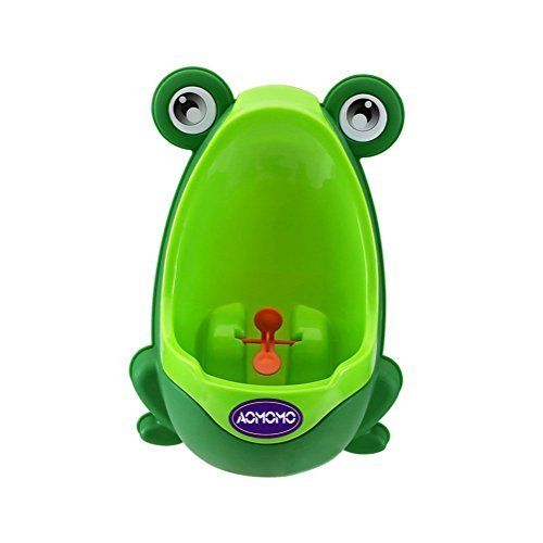 Engaging & Fun - Colorful Frog Boys Potty Training Urinal with Whirling Target - Use a Baby Boy Urinal, Making It Fun, Easy Stress Free to Potty Train a Boy (blue)