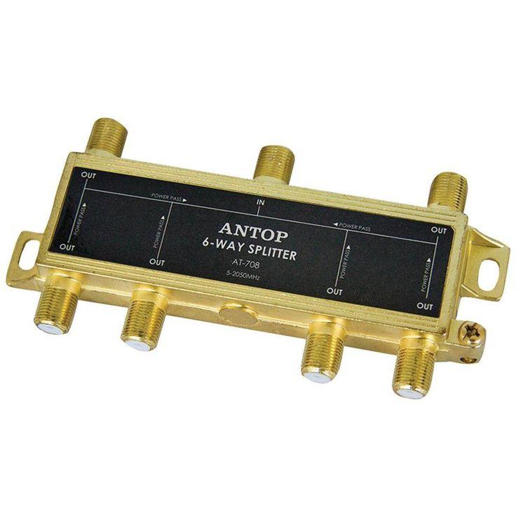 Antop Antenna Inc 6-way 2ghz Low-loss Coaxial Splitter