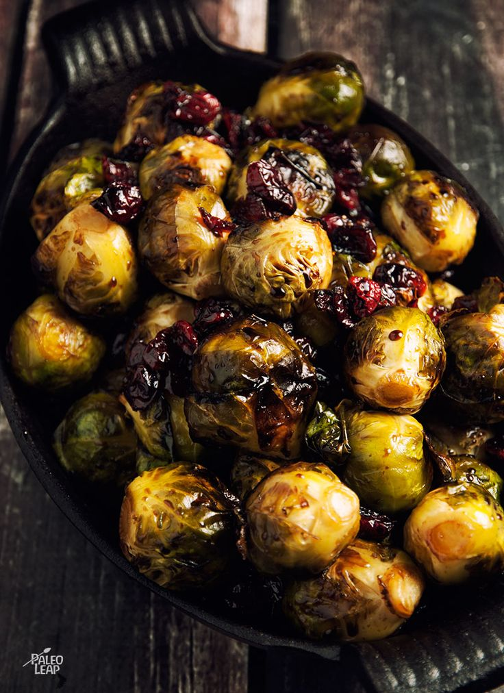 Brussels Sprouts With Balsamic and Cranberries